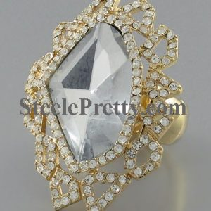 Crystal Leaf ring
