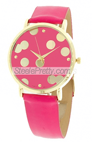 Dot Watch Fushia