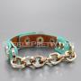 Front Chain Link Bracelet Mint