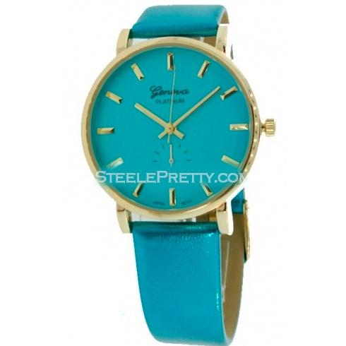 Metallic Turquoise Watch