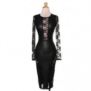 Prospect Leather and Lace Dress