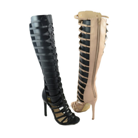 Black Lola Gladiator Heel