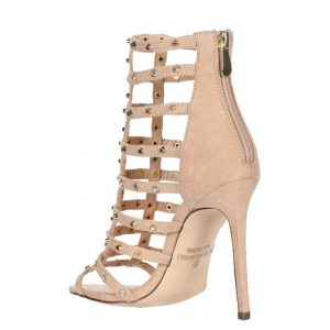 Nude Studded Heel back