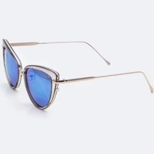 Fashion Cat Eye Sunglasses blue1