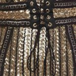 Perfect Striped Sequins Dress Close Up