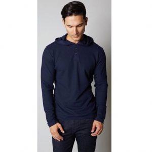Mens Fashion Thermal Hoody Blue