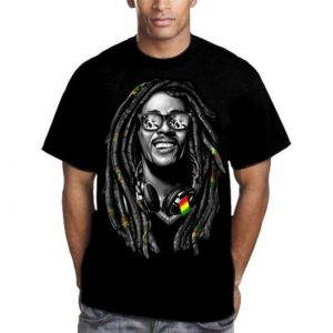 Mens Bob Marley T-Shirt - black