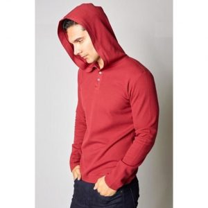 Mens Fashion Thermal Hoody Red