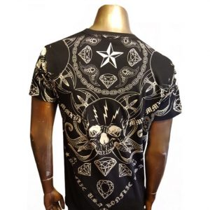 Mens Graphic Foil Design T-Shirt back