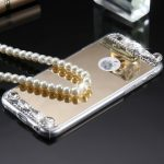 Rhinestone Glitter Mirror Phone Case - Gold