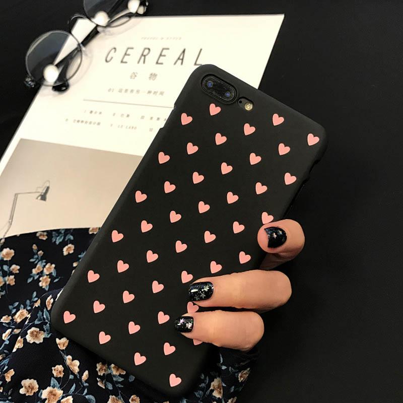 Black w/ Pink Hearts