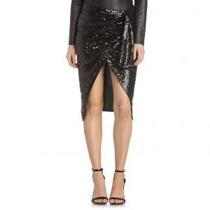 Belinda Black Sequins Skirt