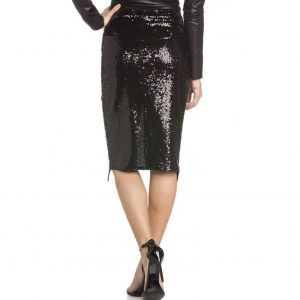 Belinda Black Sequins Skirt