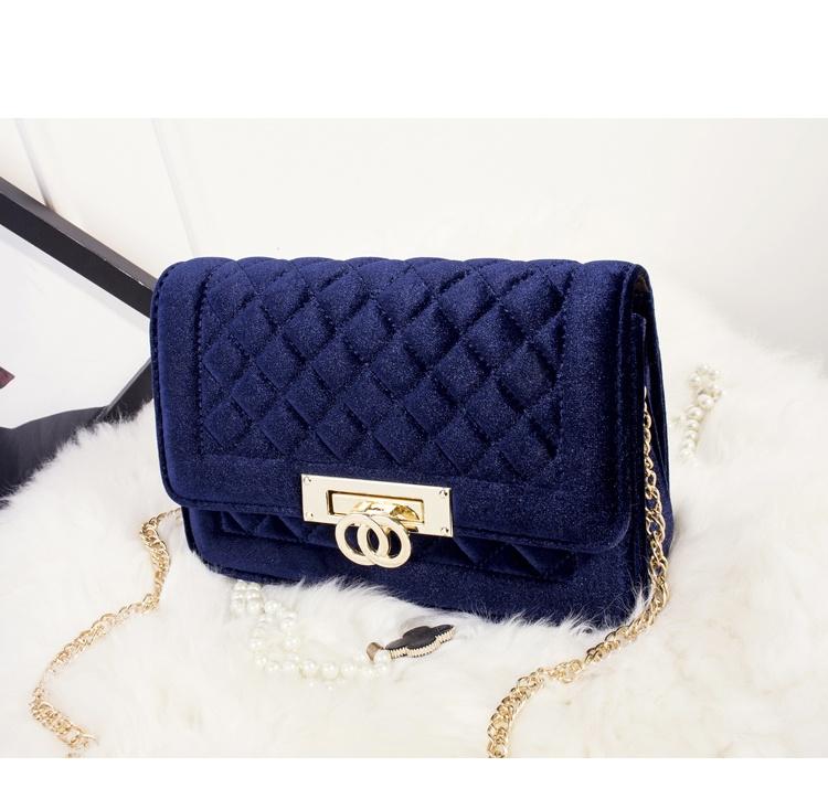 Gucci Inspired Metal Clasp Handbag - blue