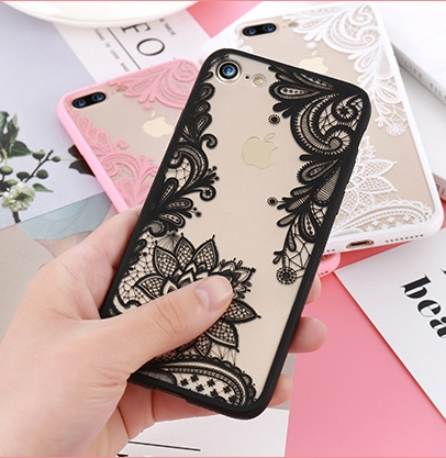 Lace Flowers Phone Case For iPhone