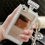 Crystal & Pearl Perfume Bottle Phone Case1