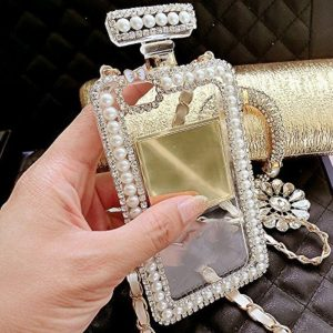 Crystal & Pearl Perfume Bottle Phone Case2