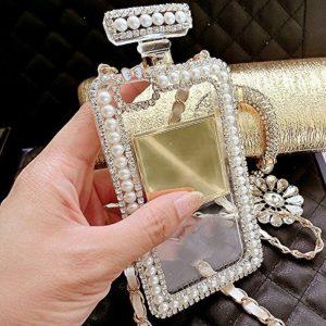 Crystal & Pearl Perfume Bottle Phone Case2
