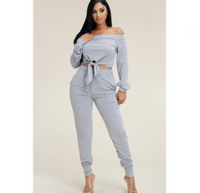 Terry Tie Jogger Two Piece Set