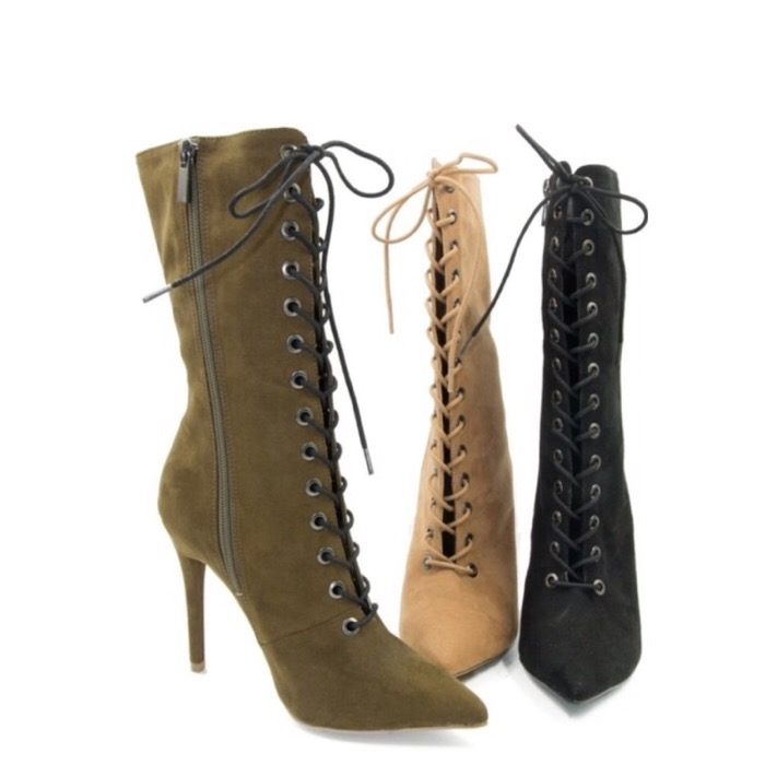 5f585dc485b45 Lace Up Booties - 3 Colors - Steele Pretty Online